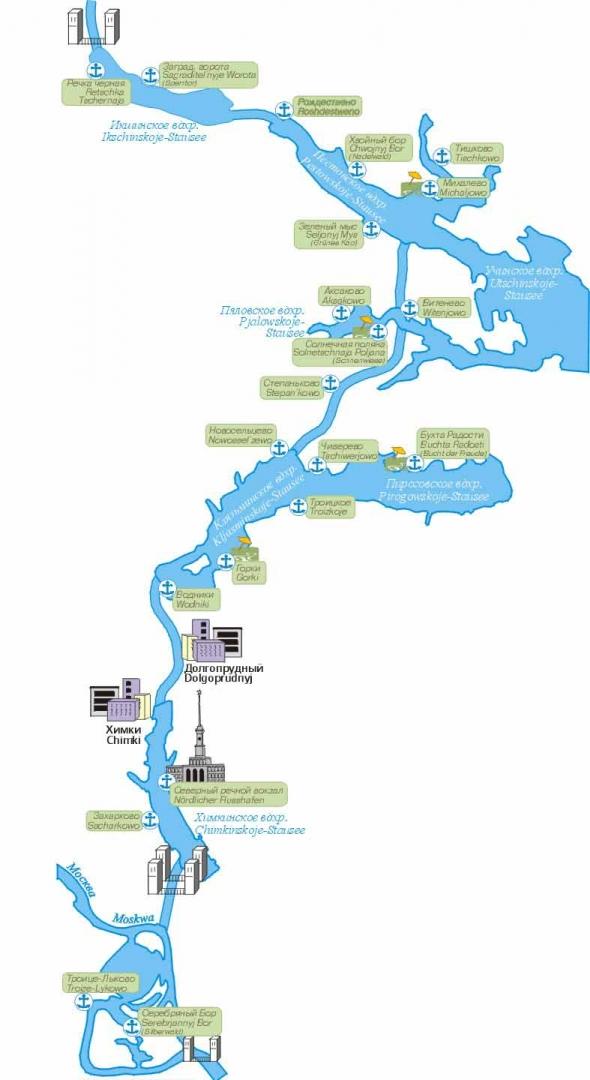 сайт - карта водных путей. >